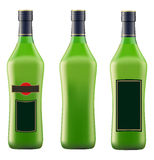 Green bottle of vermouth martini Royalty Free Stock Images