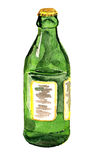 Green bottle watercolor Royalty Free Stock Image