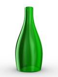Green bottle on white background Stock Image