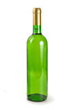 Green bottle with wine. Closed green bottle with white wine isolated on a white background Stock Images