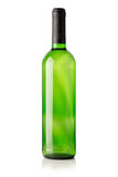 Green bottle of wine isolated on the white background Royalty Free Stock Image