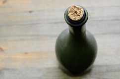 A green bottleneck, top view Stock Photography