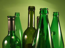 Green bottles 1. Bottles close up Royalty Free Stock Images