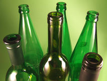 Green bottles 2. Bottles close up royalty free stock images