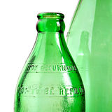 Green bottles stock photos