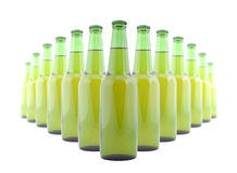 Green bottles of beer Royalty Free Stock Image