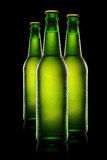 Green Bottles of beer Royalty Free Stock Photos