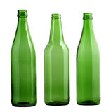 Green bottles Stock Images