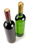 Green bottles with wine Royalty Free Stock Images