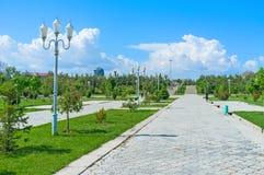 The green boulevard Stock Image