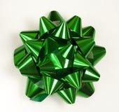 Green bow. Large big Christmas green bow Stock Photo