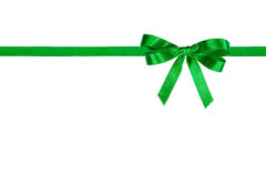 Green Bow. Royalty Free Stock Image