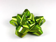 Green bow. Bow in green Stock Photography