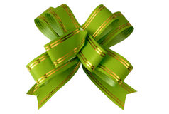 Green bow. On a white background is isolated Stock Image