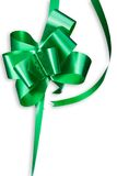 Green Bow. On white background royalty free stock image