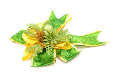 Green bow isolated on white background Royalty Free Stock Photos