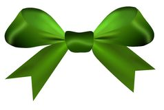 Green bow isolated on a white background Stock Image