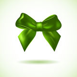 Green bow isolated on white Royalty Free Stock Image