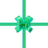 Green bow and ribbon Royalty Free Stock Photography