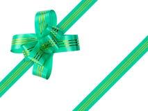 Green bow and ribbon Royalty Free Stock Photo