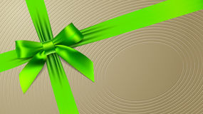 Green bow on a textural background Stock Photo