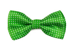 Green bow tie Stock Images