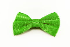 Green bow tie isolated on white background Royalty Free Stock Image