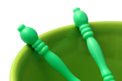 Green bowl Royalty Free Stock Photo
