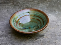 Green bowl for chinese puer or green tea Stock Image