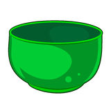 Green Bowl isolated illustration Stock Photography
