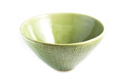Green bowl, isolated Stock Photo