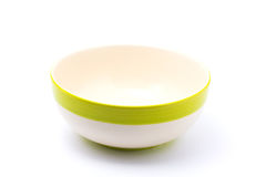 Green bowl. Isolated with white background Royalty Free Stock Photos