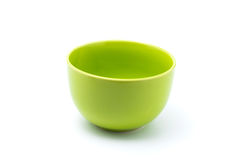 Green bowl. Isolated with white background Royalty Free Stock Photography