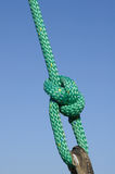 Green bowline Royalty Free Stock Image