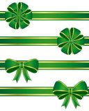 Green bows Royalty Free Stock Image