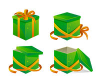 Green box Royalty Free Stock Photography