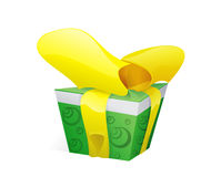 Green box. For gift Royalty Free Stock Photography