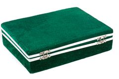 Green box for expensive gifts and decorations Royalty Free Stock Photo