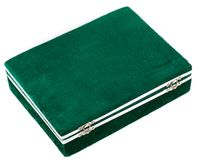 Green box for expensive gifts and decorations Royalty Free Stock Images