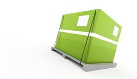 Green box fixed on palette on white. Background stock illustration