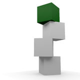 Green box. Four boxes the top one is green Royalty Free Stock Images
