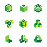 Green box logos and icons Stock Photography