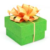 Green box for presents Stock Photography