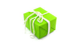 Green box tied with a rope Royalty Free Stock Photography