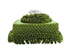 Green Box of Tissues. Reen Box of Tissues on White Background Royalty Free Stock Photography