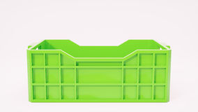 green box used in transport 3d illustration Stock Photo