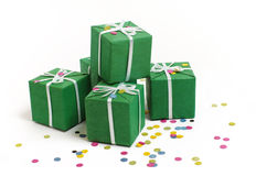 Green boxes Royalty Free Stock Photography