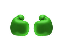 Green boxing gloves Stock Photo