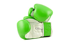 Green Boxing Gloves Stock Photography