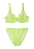 Green bra and pantie Royalty Free Stock Photo